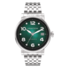 Automatic Watch Green Color Gradient Stainless Steel Bracelet