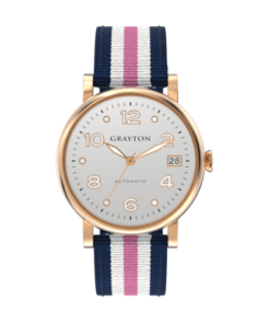 Women's Automatic Watch Silver Dial, Blue White & Pink